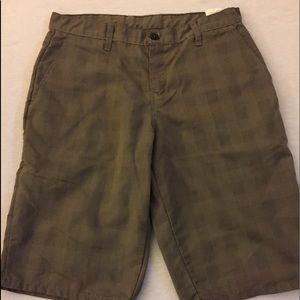 Genuine Dickies olive green plaid Bermuda shorts